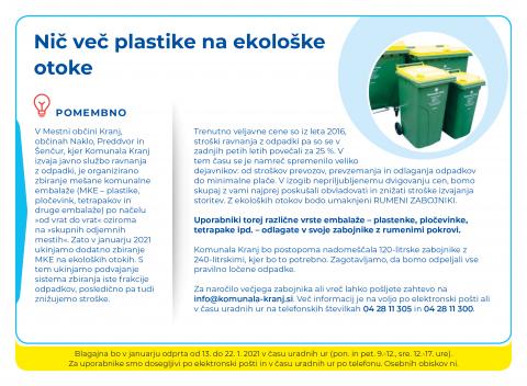 Nič več plastike na ekološke otoke